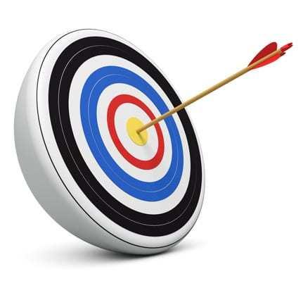 bullseye icon of finding your demographic